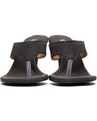 705f01d1c89 Yeezy - Grey Reflective Thong Sandals - Lyst