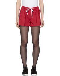 Miu Miu - Red Drawstring Shorts - Lyst