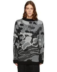 Boris Bidjan Saberi 11 - Black & Grey Jacquard Sweater - Lyst