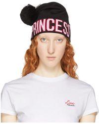 Dolce & Gabbana - Black Logo Princess Beanie - Lyst