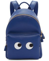 Anya Hindmarch | Blue Mini Eyes Backpack | Lyst
