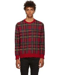 R13 - Red Tartan Sweater - Lyst