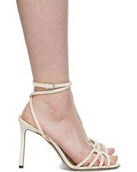 Jimmy Choo - Off-white Patent Mimi 100 Sandals - Lyst