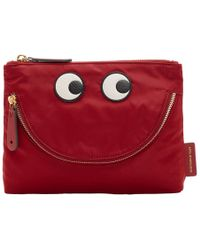 Anya Hindmarch - Red Happy Eyes Pouch - Lyst