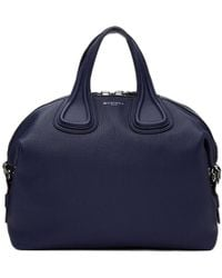 Givenchy - Navy Medium Biker Stitching Nightingale Bag - Lyst