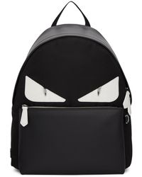Fendi - Black Croco Bag Bugs Backpack - Lyst