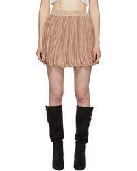 2ea590b3d Isabel Marant Irisa Tiered Linen-blend Mini Skirt in White - Lyst
