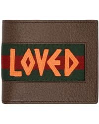 Gucci - Brown Web Loved Bifold Wallet - Lyst