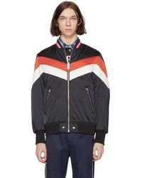 DIESEL - Reversible Black J Marching Band Bomber Jacket - Lyst