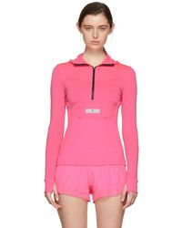 adidas By Stella McCartney - Pink Run Hoodie Jacket - Lyst