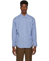 Martine Rose - Blue And White Classic Shirt - Lyst