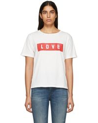 AMO - White Love Tomboy T-shirt - Lyst