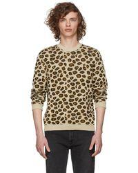Gucci - Beige Jacquard Knit Jumper - Lyst