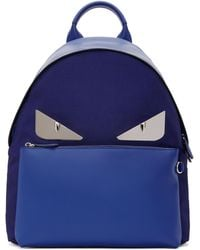 Fendi | Blue And Navy Bag Bugs Backpack | Lyst