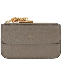 Chloé - Grey Drew Zipped Card Holder - Lyst