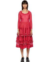 Molly Goddard - Pink Gingham Kelly Dress - Lyst