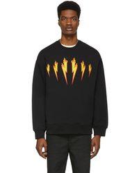 Neil Barrett - Black Firebolt Sweatshirt - Lyst