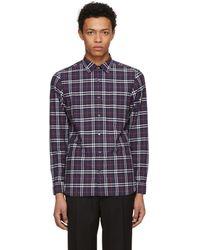 Burberry - Navy Plaid Alexander Shirt - Lyst