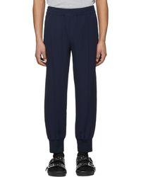 Alexander McQueen - Navy Crepe Sport Lounge Pants - Lyst