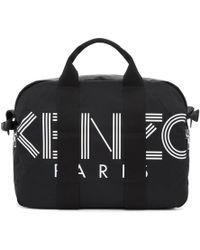 KENZO - Black Weekender Duffle Bag - Lyst