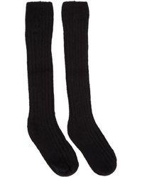 Rick Owens - Black Ribbed Socks - Lyst