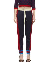 beautiful style durable in use hot sales Navy Tricolor Stripes Lounge Pants - Blue