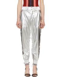 Isabel Marant - Silver Metallic Aruso Trousers - Lyst
