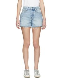 AMO - Blue Rosebowl Denim Shorts - Lyst