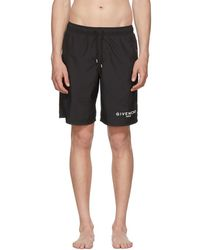 Givenchy - Black Logo Swim Shorts - Lyst