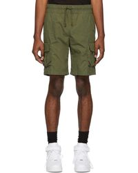 John Elliott - Green Military Cargo Shorts - Lyst