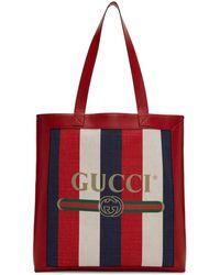 Gucci - Tricolor Striped Tote - Lyst