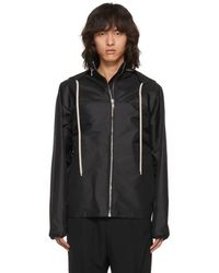 Rick Owens - Black Windbreaker Jacket - Lyst