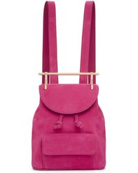 M2malletier | Pink Suede Mini Backpack | Lyst