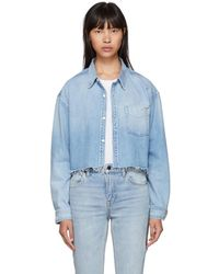 GRLFRND - Blue Denim Christy Shirt - Lyst