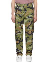 Valentino - Green Camouart Cargo Pants - Lyst