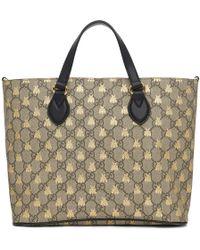 276d68f1ebd Lyst - Gucci Black Gg Supreme Patches Duffle Bag in Black
