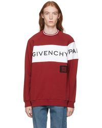 Givenchy - Red And White Vintage Fit Logo Sweatshirt - Lyst