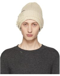 Balenciaga Destroyed Beanie Hat in Black for Men - Lyst 8a6a5992f364