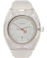Gucci | White Transparent G Sync Watch | Lyst