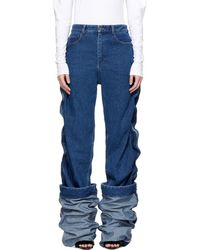 Y. Project - Navy Wire Denim Jeans - Lyst
