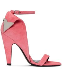 CALVIN KLEIN 205W39NYC - Pink Suede Leititia Sandals - Lyst