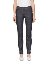 A.P.C. - Indigo High Standard Jeans - Lyst