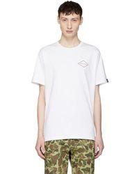 Rag & Bone - White Mini Graphic T-shirt - Lyst