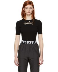 Versus - Black Safety Pins Pullover - Lyst
