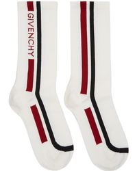 Givenchy - Off-white Moto Biker Socks - Lyst