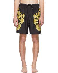 Versace - Black Barocco Print Swimsuit - Lyst