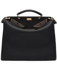 Fendi - Black Regular Bag Bugs Peekaboo Briefcase - Lyst