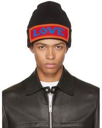 Fendi - Black 'love' Beanie - Lyst