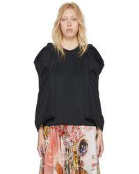 Comme des Garçons - Black Sculpted Sleeve T-shirt - Lyst