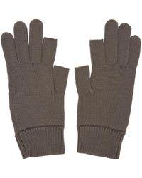 Rick Owens | Grey Knit Gloves | Lyst